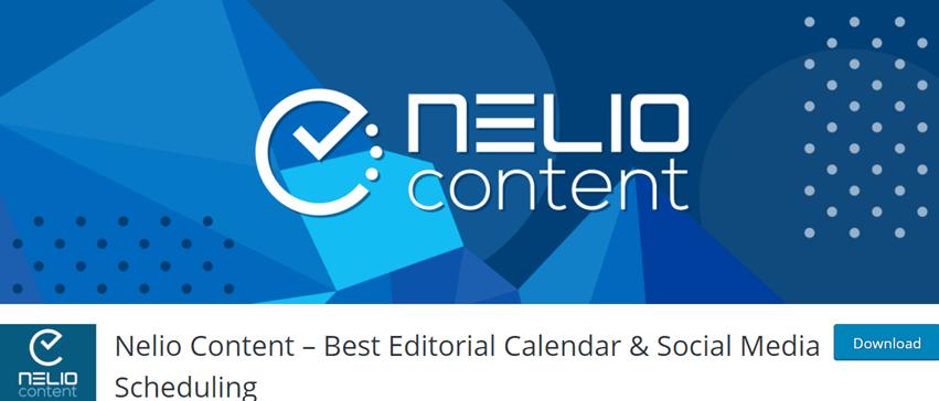 Nelio Content – Best Editorial Calendar & Social Media Scheduling