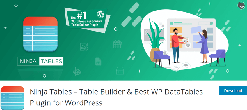 Ninja Tables – Table Builder & Best WP DataTables Plugin for WordPress