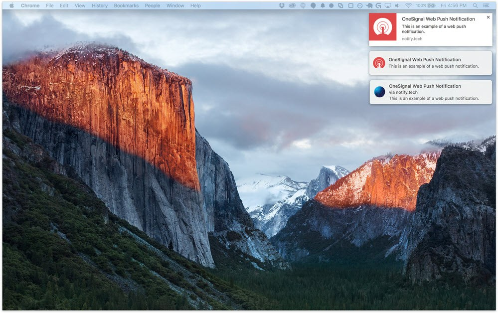 OneSignal web push notification free plugin notifications on chrome safari firefox opera