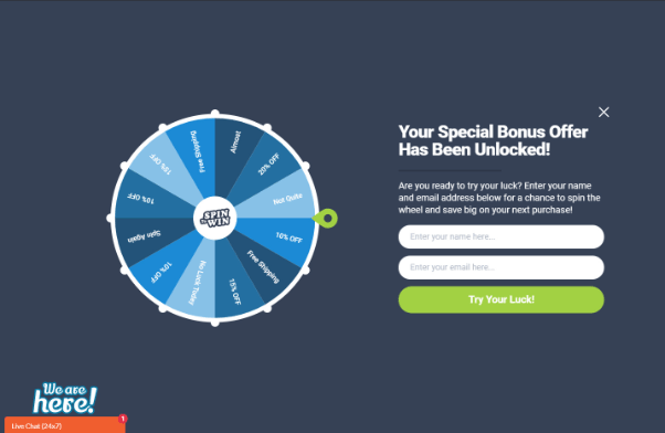 OptinMonster spin the wheel