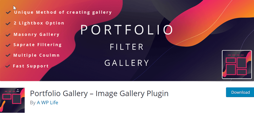 Portfolio Gallery – Image Gallery Plugin