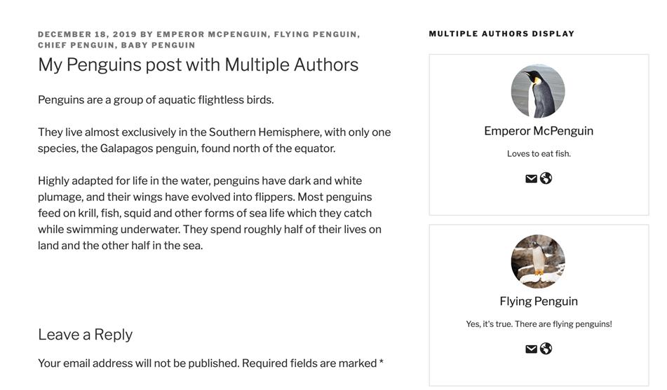 PublishPress Authors show multiple authors and guest author