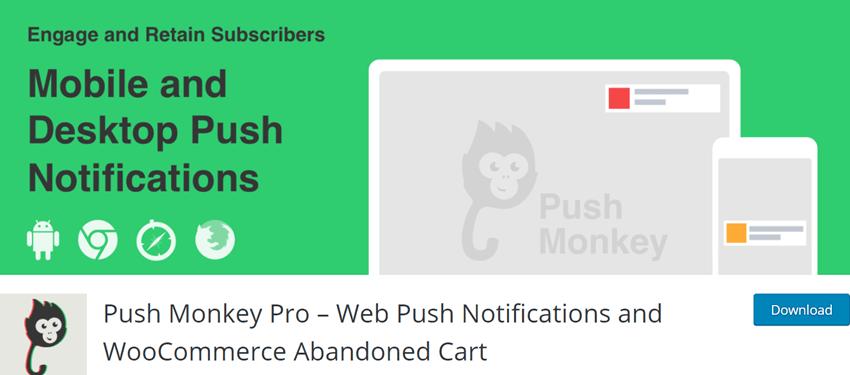 Push Monkey Pro – Web Push Notifications and WooCommerce Abandoned Cart