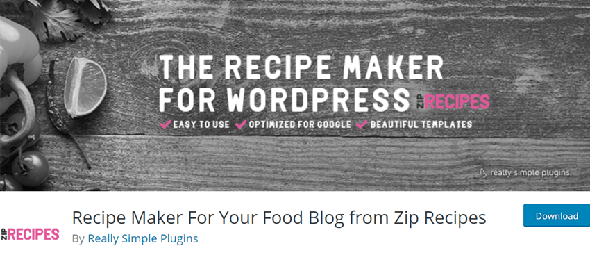 Recipe Maker For Your Food Blog from Zip Recipes