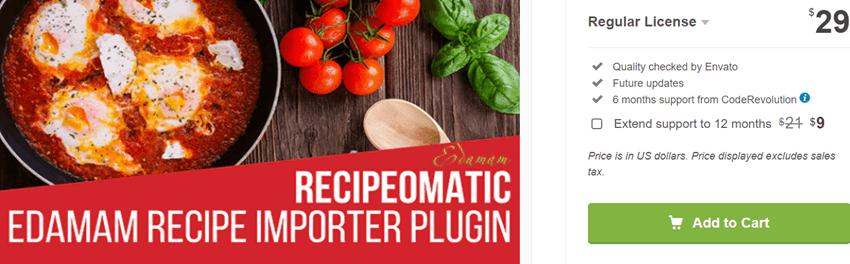 Recipeomatic Automatic Recipe Post Generator Plugin for WordPress