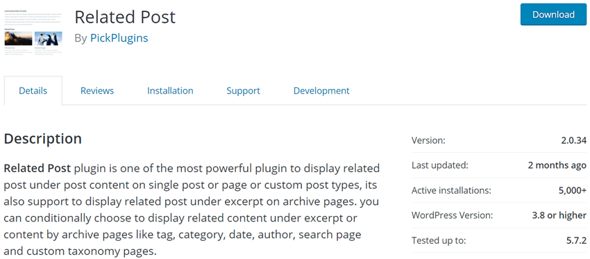 Related Post By Pickplugin