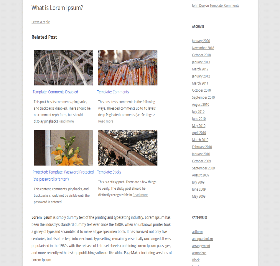 Related Post wordpress plugin