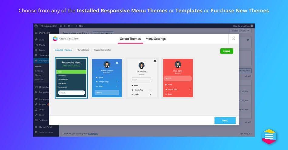 Responsive menu wordpress plugin create mobile friendly menu select theme