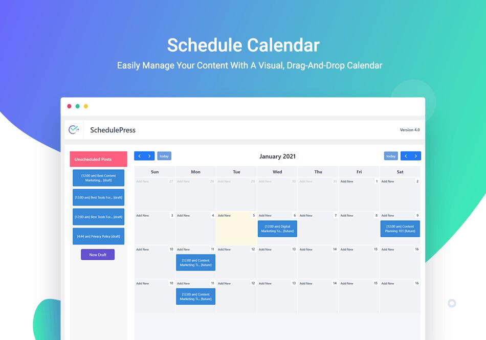 SchedulerPress Schedule Calendar WP Scheduled posts