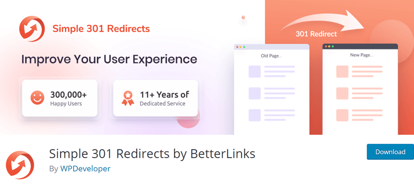 Simple 301 Redirects by BetterLinks