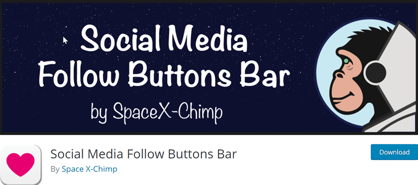Social Media Follow Buttons Bar
