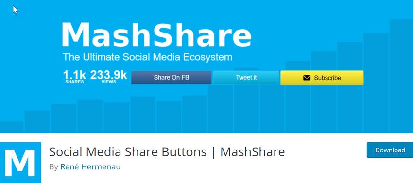 Social Media Share Buttons - MashShare