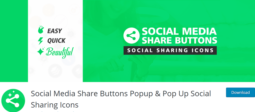 Social Media Share Buttons Popup & Pop Up Social Sharing Icons