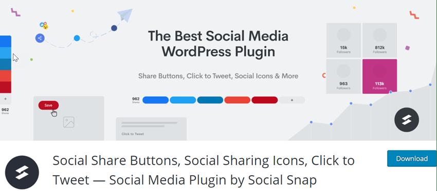 Social Share Buttons, Social Sharing Icons, Click to Tweet - Social Media Plugin by Social Snap