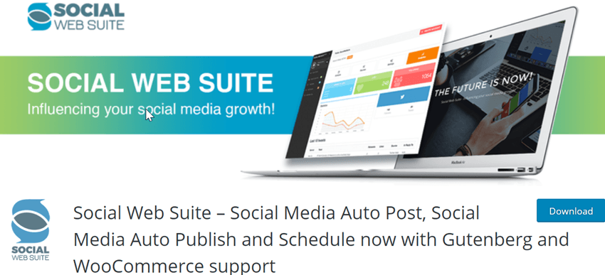 Social Web Suite – Social Media Auto Post, Social Media Auto Publish and Schedule now with Gutenberg and WooCommerce support