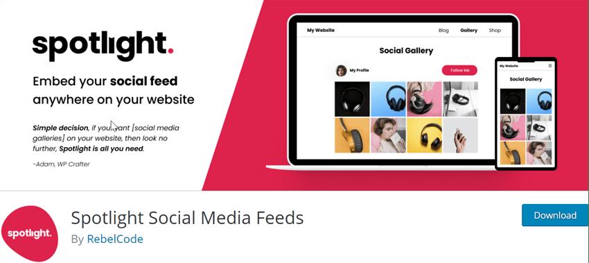 Spotlight Social Media Feeds