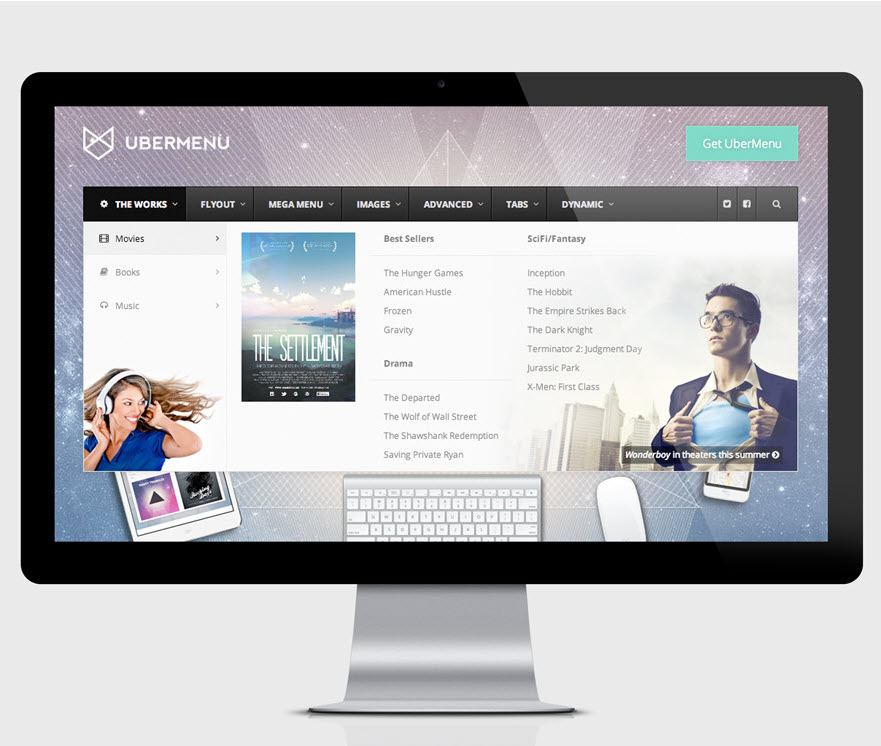 UberMenu WordPress mega menu plugin by sevenspark demo