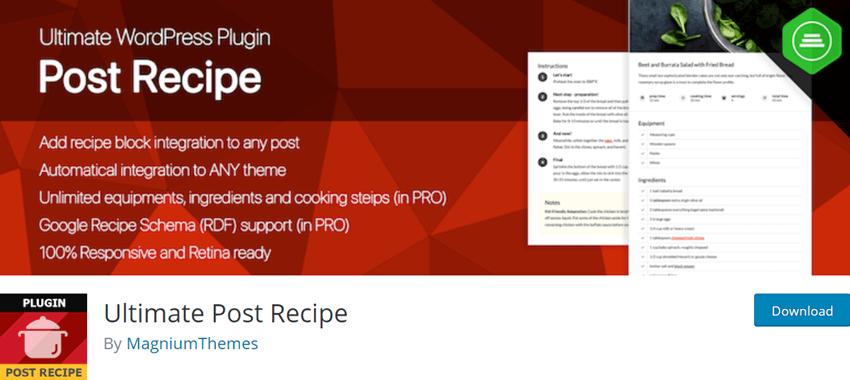 Ultimate Post Recipe