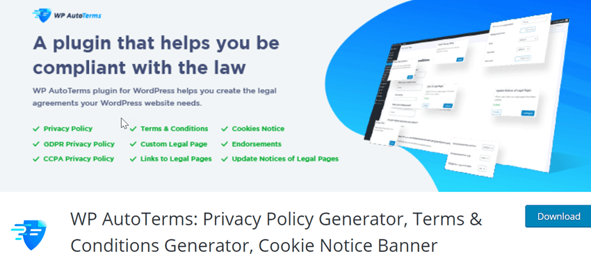 WP AutoTerms Privacy Policy Generator, Terms & Conditions Generator, Cookie Notice Banner