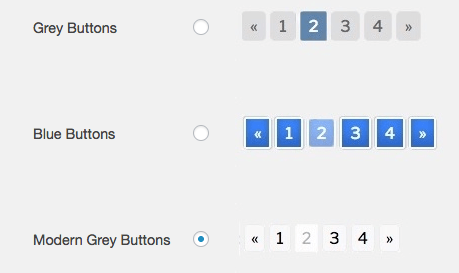 WP Paginate wordpress plugins grey and blue buttons