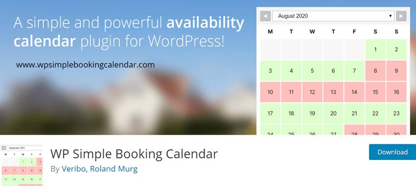 WP Simple Booking Calendar