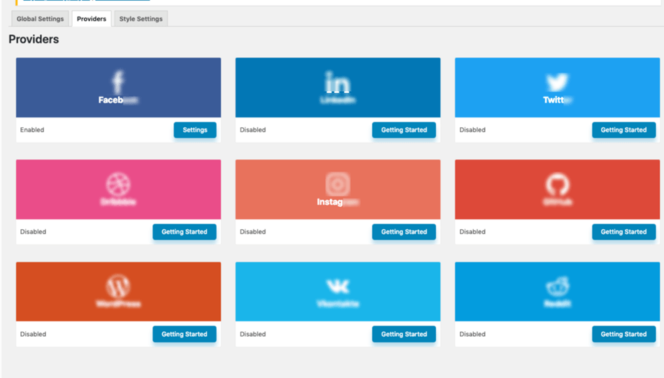 WP Social wordpress social counter plugin global settings