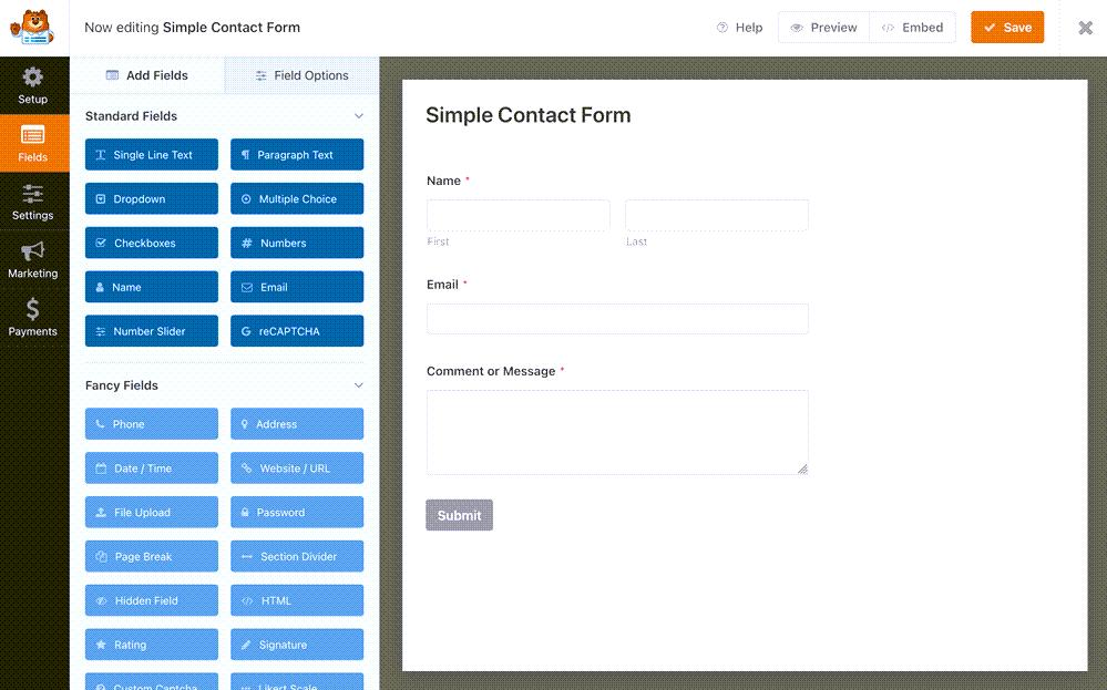 WPForms Drag & Drop Online Form Builder