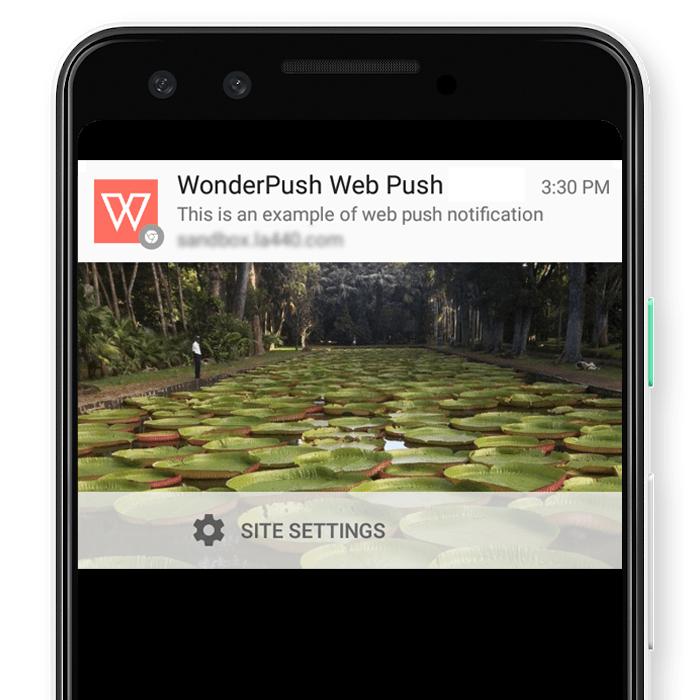 Wonderpush web push notification plugin demo