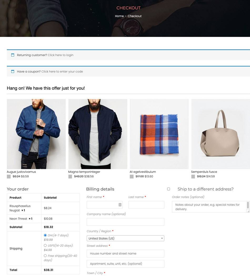 WooCommerce Crosssell Checkout Demo