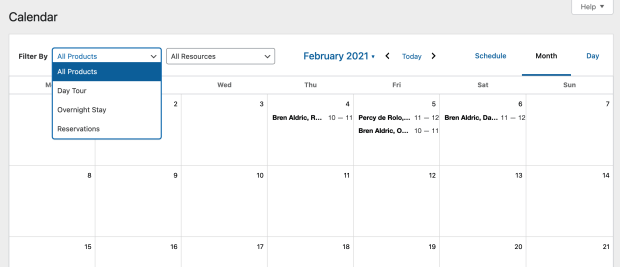 WooCommerce bookings booking and reservation wordpress plugin manage your calendar