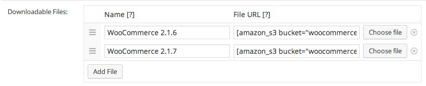 Woocommerce Add Downloadable Amazon S3