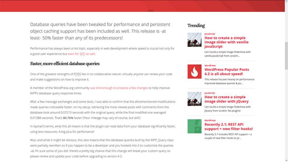 WordPress Popular Posts WordPress plugin widget on theme sidebar