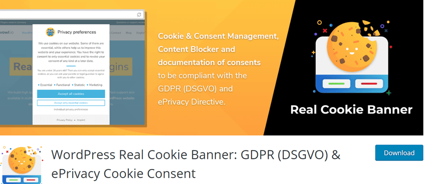 WordPress Real Cookie Banner GDPR (DSGVO) & ePrivacy Cookie Consent