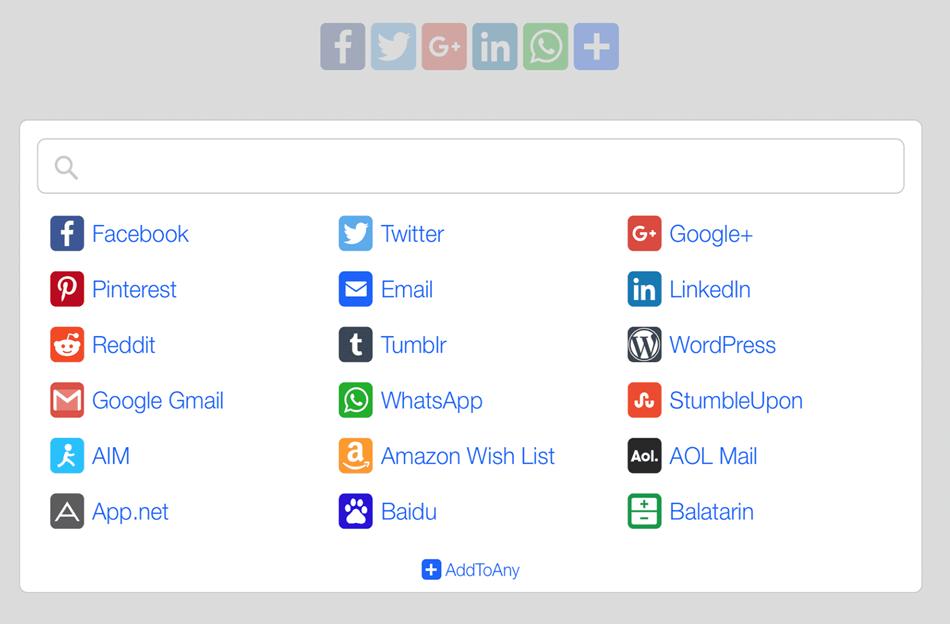 add to any share button wordpress plugin
