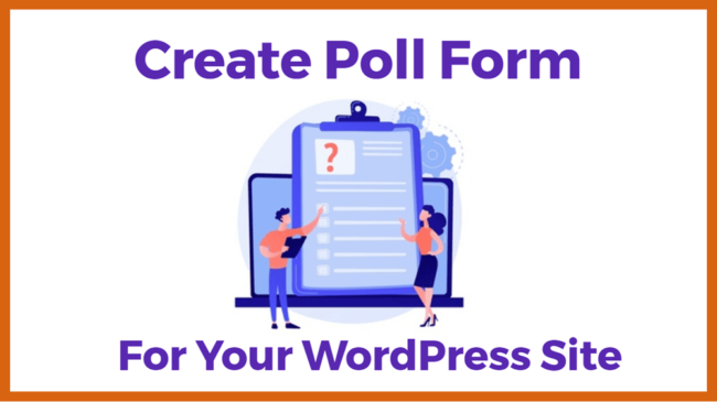 create poll form On Your wordpress Website