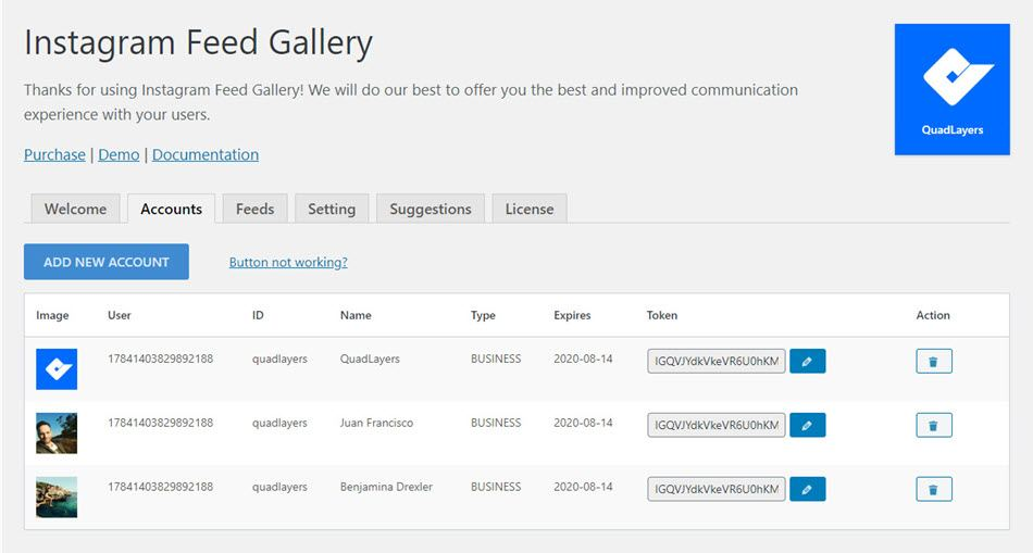 social feed gallery plugin instagram feed gallery 2 columns and 3 columns
