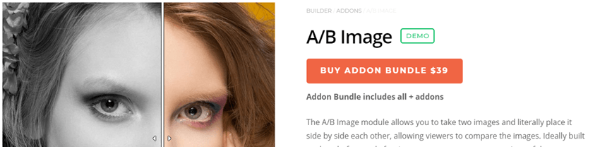 themify A B Image module slider
