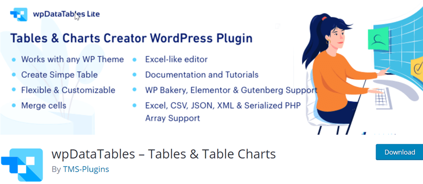 wpDataTables – Tables & Table Charts