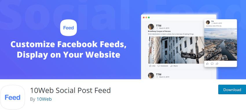 10Web Social Post Feed
