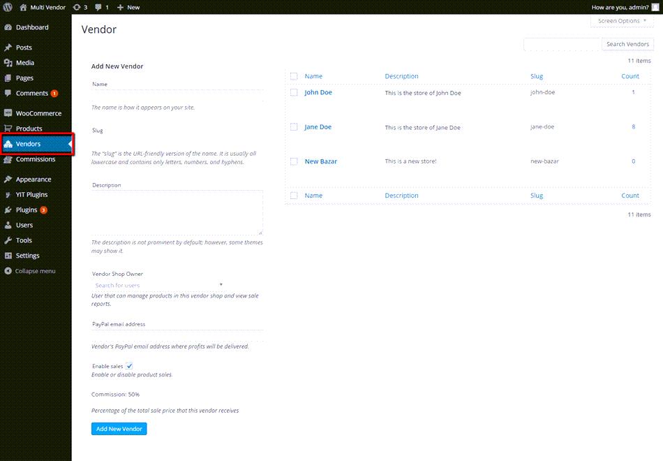 Add New Vendor In Multi Vendor Dashboard