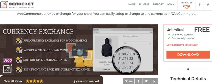 Berocket Currency Exchange For WooCommerce
