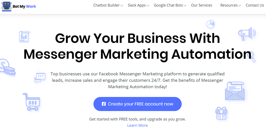 Bot My Work - Grow Your Business With Messenger Marketing Automation