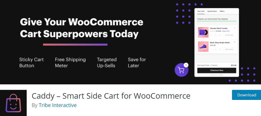 Caddy – Smart Side Cart for WooCommerce