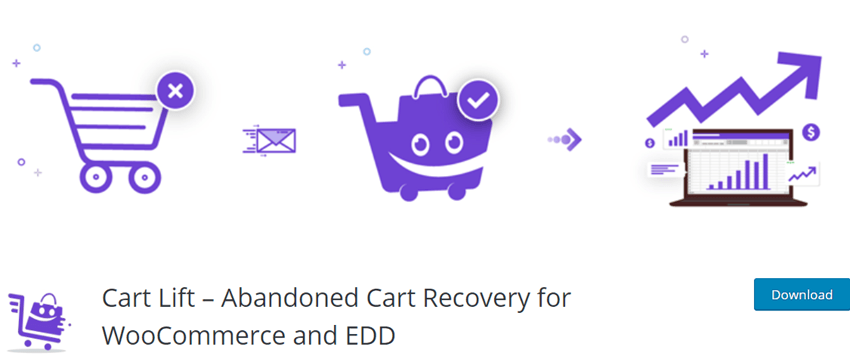 Cart Lift – Abandoned Cart Recovery for WooCommerce and EDD