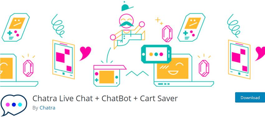 Chatra Live Chat + ChatBot + Cart Saver