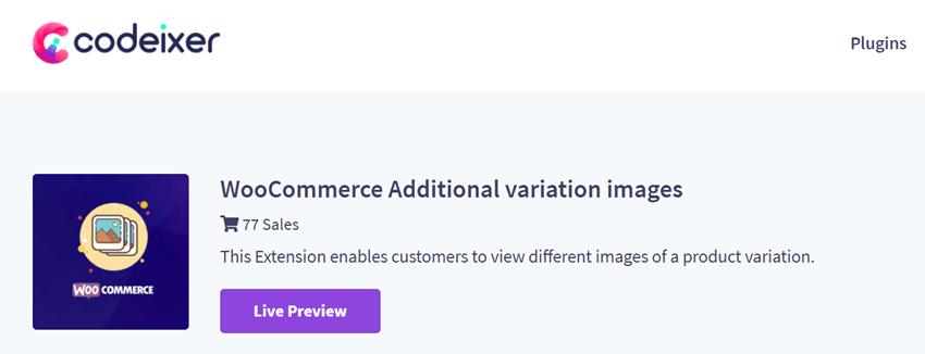 Codeixer Woocommerce Additional Variation Images