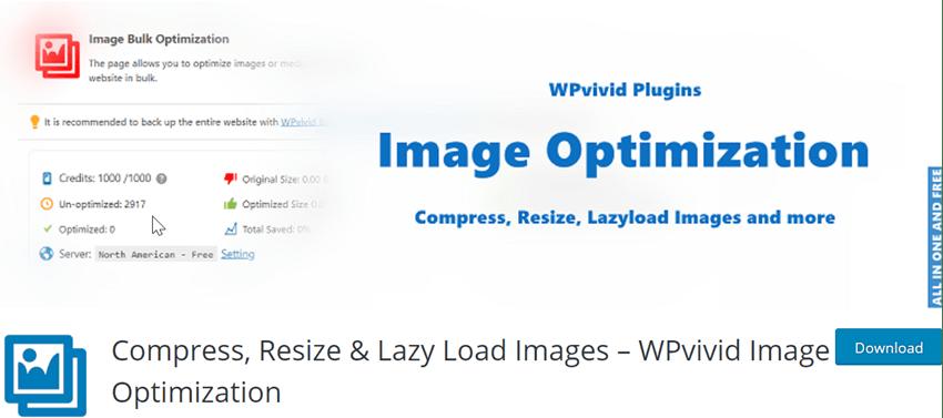 Compress, Resize & Lazy Load Images – WPvivid Image Optimization