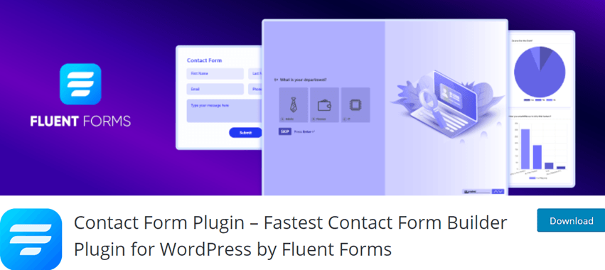 Contact Form Plugin – Fastest Contact Form Builder Plugin for WordPress by Fluent Forms