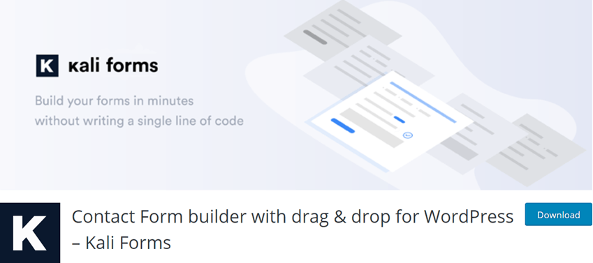 Contact Form builder with drag & drop for WordPress – Kali Forms