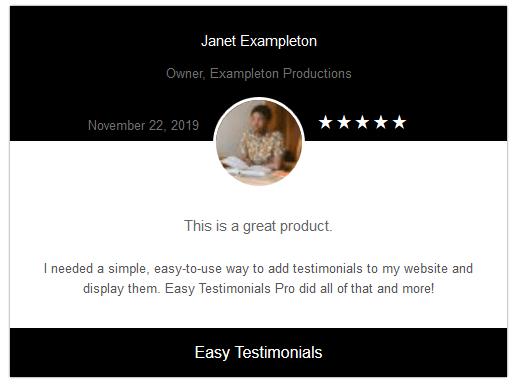 Easy testimonials accolades theme black wordpress plugin